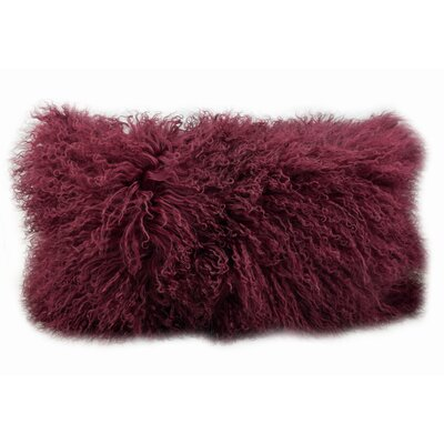 Halifax Tibetan Wool Lumbar Pillow Color: Cabernet