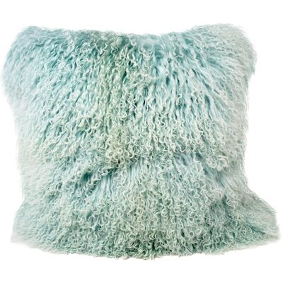 Janelle Tibetan Wool Throw Pillow Color: Light Teel