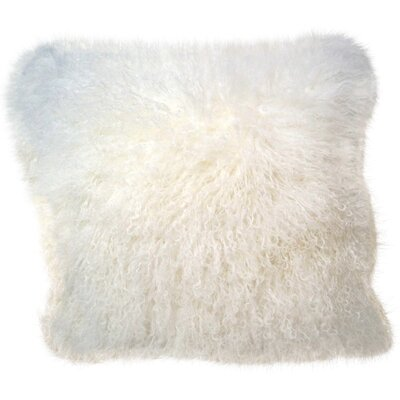 Janelle Tibetan Wool Throw Pillow Color: White