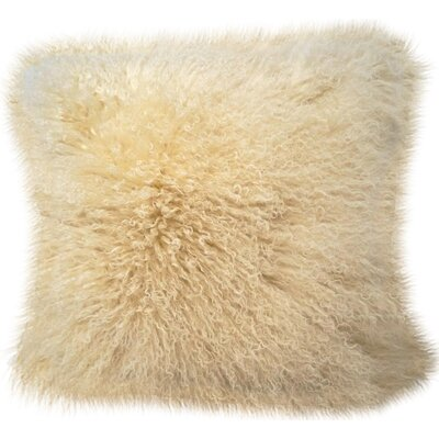 Janelle Tibetan Wool Throw Pillow Color: Off White