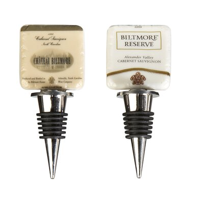 Biltmore Inspirations 2 Piece Reserve Wine Label Stopper Set
