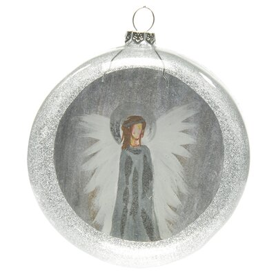 Reflection Angel Glass Disk Ornament