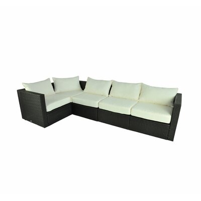 5 Piece Sectional with Cushions