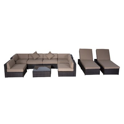 Outsunny 9 Piece Seating Group with Cushions