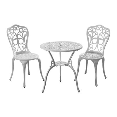 Absecon All-Weather Outdoor 3 Piece Bistro Set