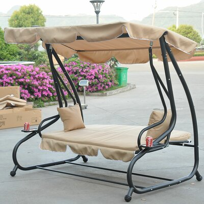 Whitney Outdoor Covered Porch Swing with Stand