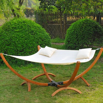 Genevrier 2 Person Extra Wide Hammock with Stand