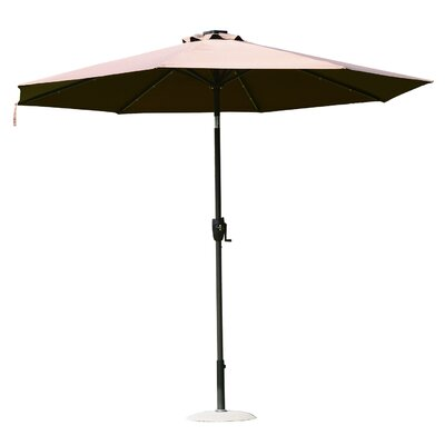 9 Solar LED Market Patio Illluminated Umbrella Finish/Color: Coffee Brown
