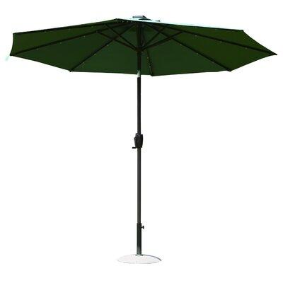 9 Solar LED Market Patio Illluminated Umbrella Finish/Color: Deep Green