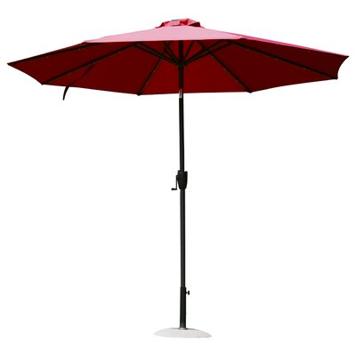 9 Solar LED Market Patio Illluminated Umbrella Finish/Color: Wine Red
