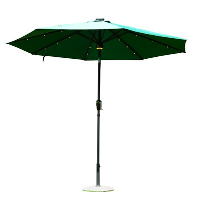Chalfant 9 Solar LED Market Patio Illuminated Umbrella Color: Green