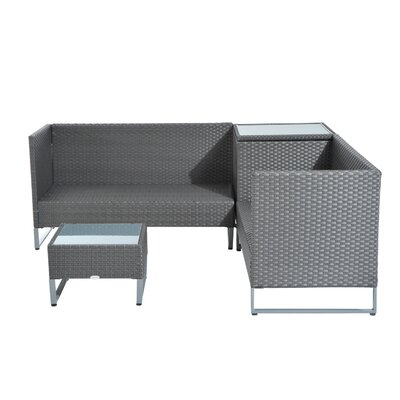 Shurtz Patio 4 Piece Seating Group with Cushion