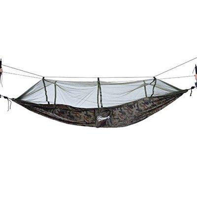 Kira Portable Nylon Camping Hammock Color: Camouflage