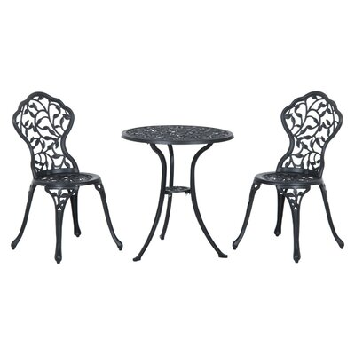 Brechin Antique Style 3 Piece Bistro Set