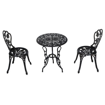 Daniella Antique Style 3 Piece Bistro Set