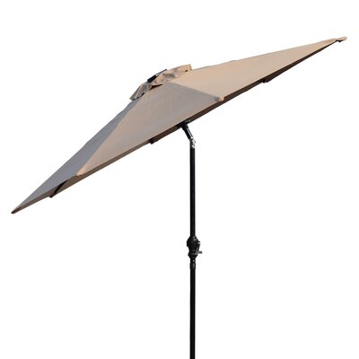 Karlson 8.5 Solar LED Market Patio Illuminated Umbrella Fabric: Beige