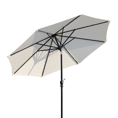 Karlson 8.5 Solar LED Market Patio Illuminated Umbrella Fabric: Cream White