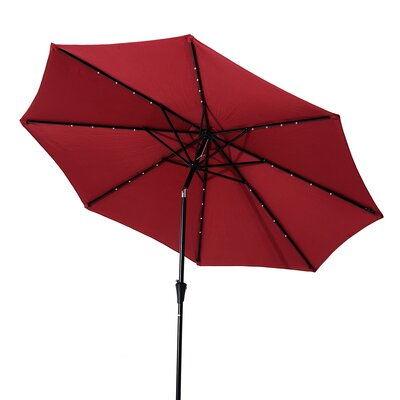Kelty 8.5' Lighted Umbrella Fabric: Red