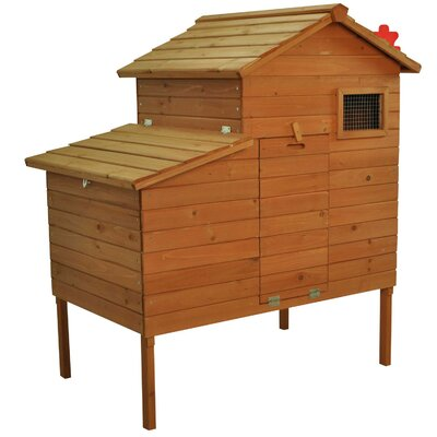 Outdoor Raised Leg Hen House Chicken Coop
