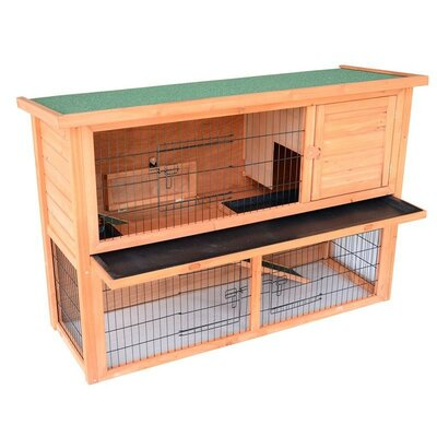 Lenora Rabbit Hutch/Bunny House with Lower Outdoor Run
