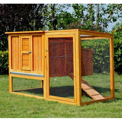 Chicken Coop/Hen House with Nesting Box and Outdoor Run