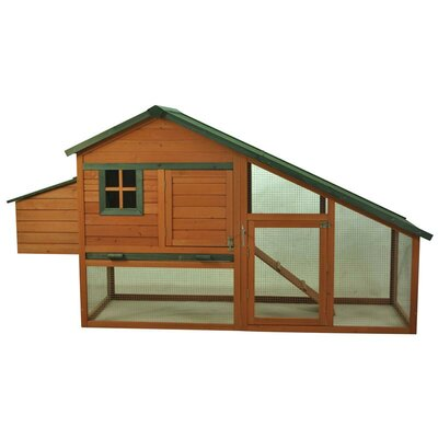 Wooden Backyard Slant Roof Hen House Chicken Coop