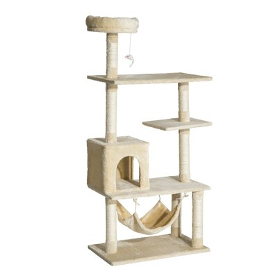 Multi-Scratcher Scratching Post Cat Tree