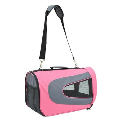 Soft Sided Travel Pet Carrier Color: Pink