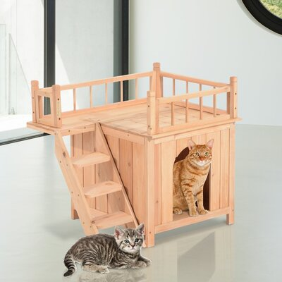 25.75 Story Wood Cat Tree