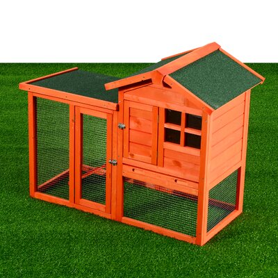 Ozzie Deluxe Rabbit House Wooden Animal Hutch Run
