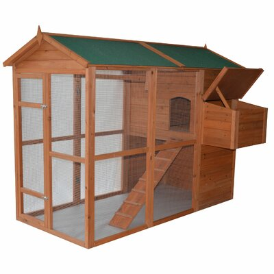 Deluxe Large Backyard Chicken Coop with Outdoor Run