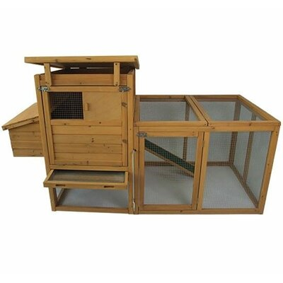Archie 75 Deluxe Wooden Chicken Coop with Outdoor Run