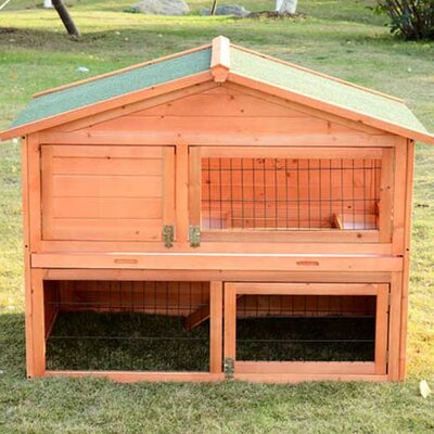 Hardy 48 Deluxe 2-level Backyard Bunny Rabbit Hutch