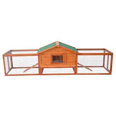 Pawhut Deluxe Rabbit Hutch Chicken Coop with Double Outdoor Runs