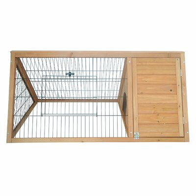 Pawhut Outdoor Triangular Animal Rabbit Hutch