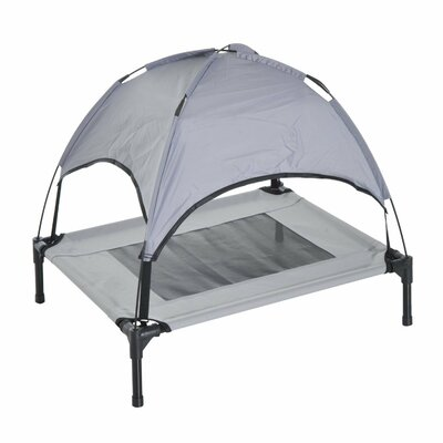 Dog Cot with Canopy Size: 28.5 H x 24.25 W x 30 D
