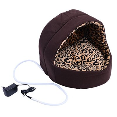Hooded Indoor Electric Heated Round Dog Pet Bed