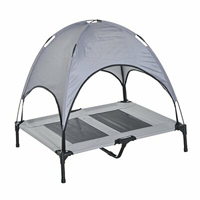 Cot Elevated Cooling Dog Bed with Canopy Shade