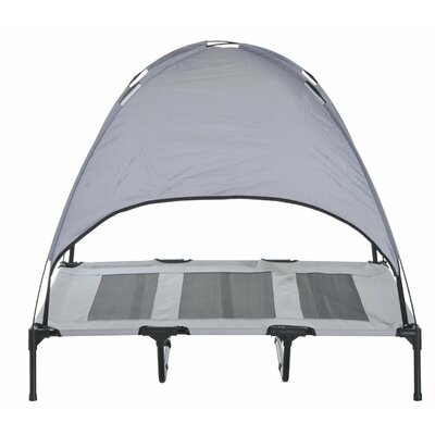 Pawhut Elevated Cooling Cot with Canopy Shade