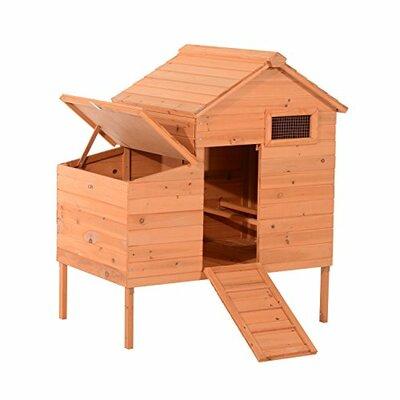 Outdoor Raised Leg Wooden Chicken Coop