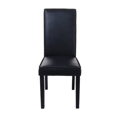 Kennelly Parsons Upholstered Dining Chair Color: Faux Leather Black