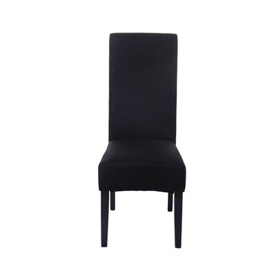 Parsons Chair Upholstery: Faux Suede - Black