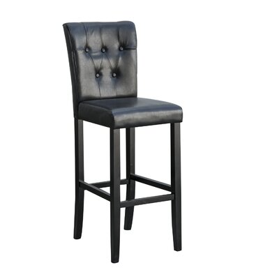 Laure 24 Bar Stool Upholstery: Black