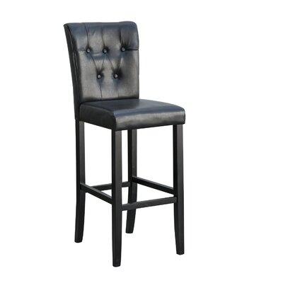 24 Bar Stool Upholstery: Black