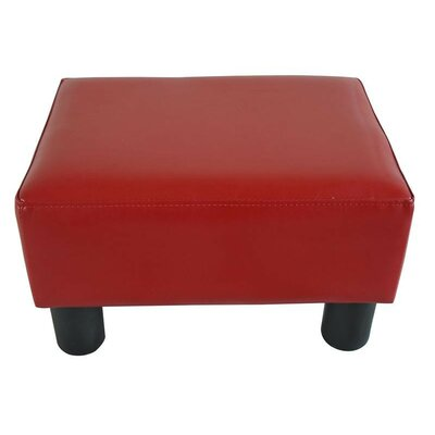 Avalos Modern Small Ottoman Upholstery: Red