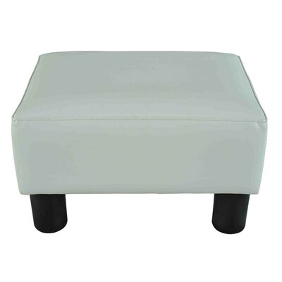 Modern Small Ottoman Upholstery: White