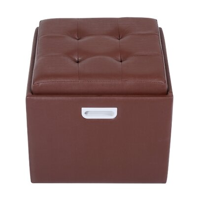 Cherina Storage Ottoman Upholstery Color: Brown