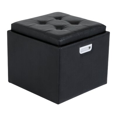 Cherina Storage Ottoman Upholstery Color: Black