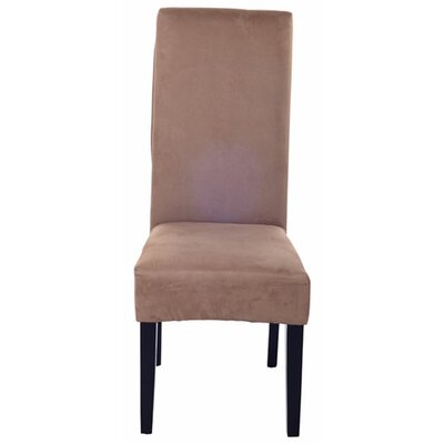 Parsons Upholstered Dining Chair Color: Faux Suede Brown