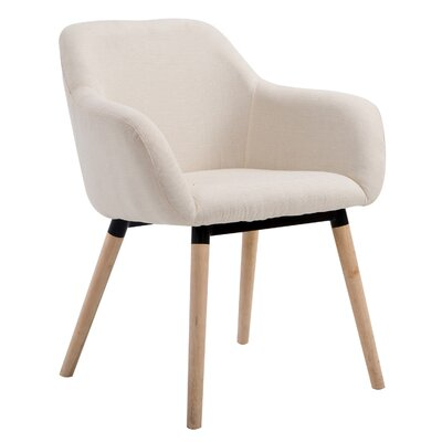 Vickrey Modern Linen Fabric Armchair